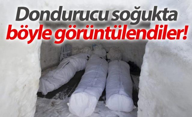Mehmetçik dondurucu soğukta böyle görüntülendi