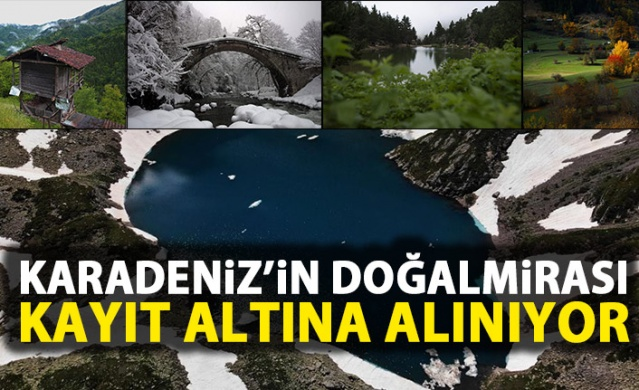 Karadeniz'in doğal mirası kayıt altına alınıyor.