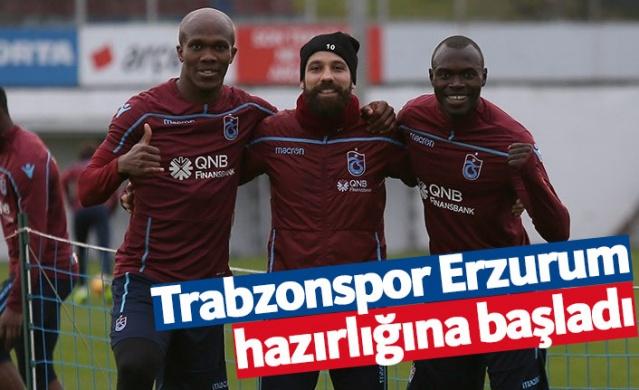 Trabzonspor ligin 26. haftasında deplasmanda oynayacağı Büyükşehir Belediye Erzurumspor maçı hazırlıklarına bugün 17.00'de yaptığı antrenmanla başladı.