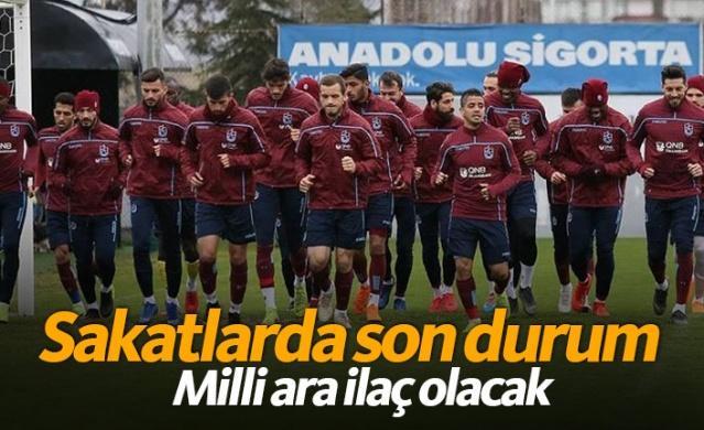 Trabzonspor'un 8 sakat oyuncusu, 20 günlük aranın ardından iyileşerek takıma dönecek. Bu rahatlama yeni sakatlıkların önlenmesini sağlayacak. .