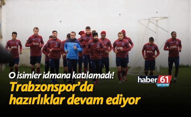 HABER61 - SPOR SERVİSİ Trabzonspor'da Spor Toto Süper Lig'in 26. haftasında BB Erzurumspor maçı hazırlıklarına devam etti.