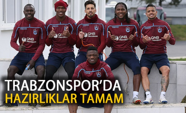 Trabzonspor'da Erzurumspor maçı hazırlıkları devam ediyor.