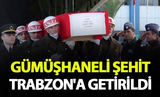 Gümüşhaneli şehidin cenazesi uçakla Trabzon'a getirildi