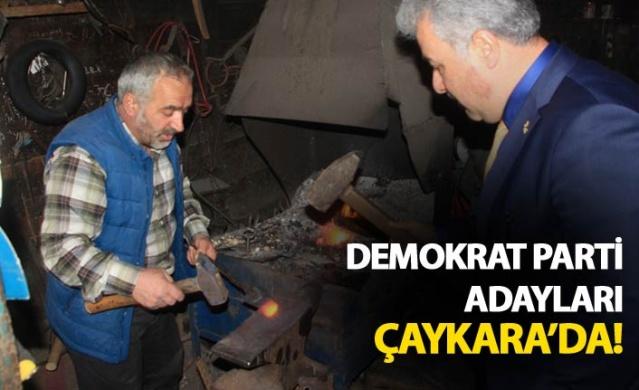 Demokrat Parti adayları Çaykara'da!