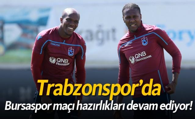 Trabzonspor deplasmanda oynayacağı Bursaspor maçı hazırlıklarını bugün 11.00'de yaptığı antrenmanla sürdürdü.