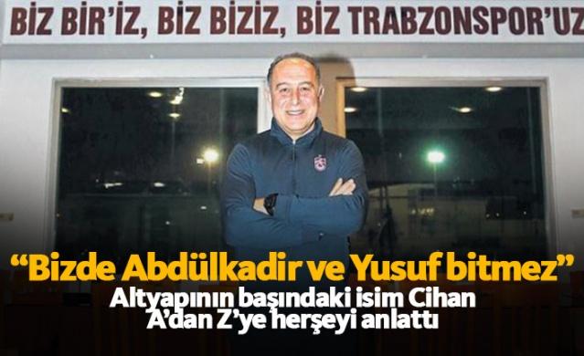 Bu sezon Ünal Karaman ile birlikte Trabzonspor'un altyapısının da ne kadar önemli olduğu ortaya çıktı. Ekonomik sorunlar ışığında olmasına rağmen kendi gençlerine güvenen Trabzonspor bu konuda ligin en başarılı takımı oldu. İşte o altyapının kahramanlarından biri olan Trabzonspor altyapısının koordinatörü Hamit Cihan, önemli açıklamalarda bulundu.  İşte Fanatik'e konuşan Cihan'ın röportajı;