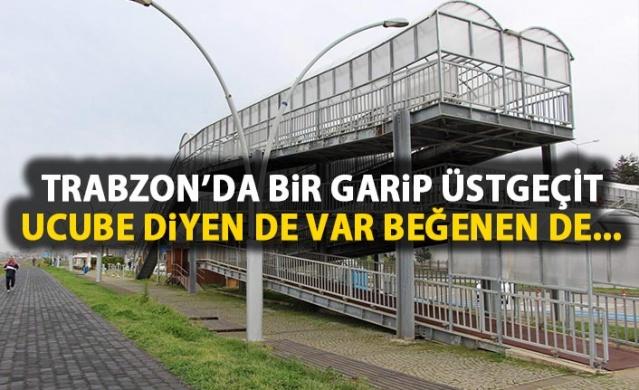 Trabzon'daki 3 katlı üst geçit dikkat çekiyor