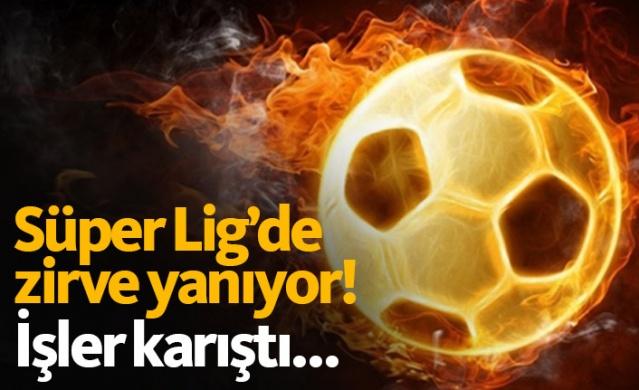 Süper Lig'in zirvesinde alınan sonuçlar ve oluşan puan durumu son haftalara girerken büyük heyecan oluşturdu.
