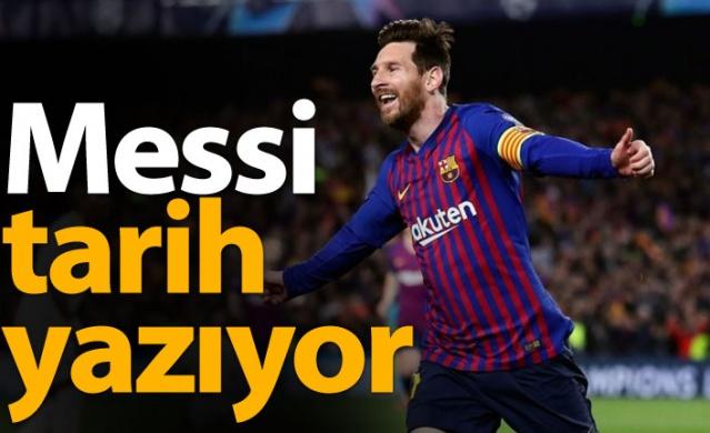 Barcelona ve Messi tarih yazıyor