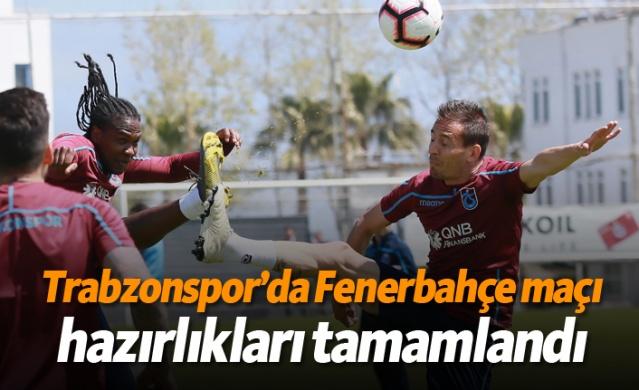 Trabzonspor Süper Lig'in 30. haftasında deplasmanda oynayacağı Fenerbahçe maçı hazırlıklarını bugün 11.00'de yaptığı antrenmanla tamamladı.