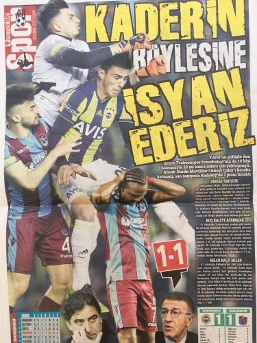 Trabzon Gazetelerinde  Fenerbahçe maçı manşetleri: Böyle talihin...