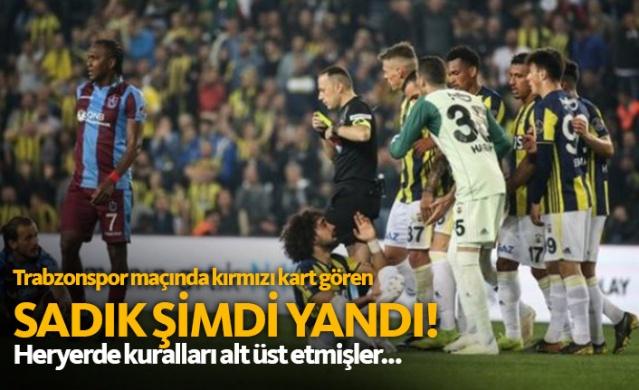 Trabzonspor maçında kırmızı kart görmüştü, şimdi yandı!