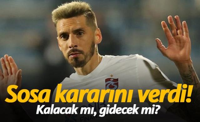 Trabzonspor'da Sosa kararını verdi