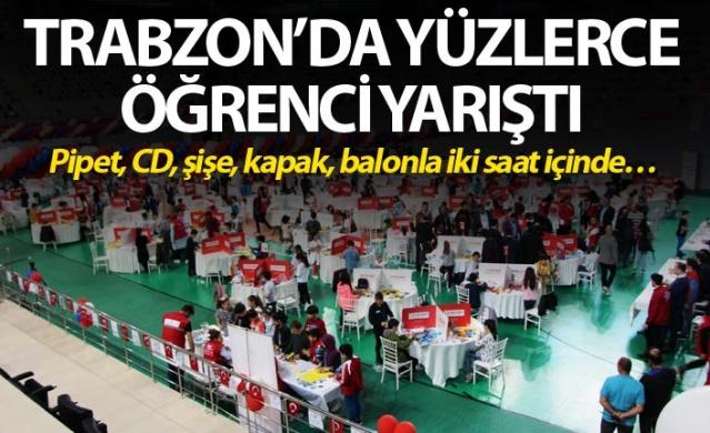Trabzon'da yüzlerce öğrenci yarıştı