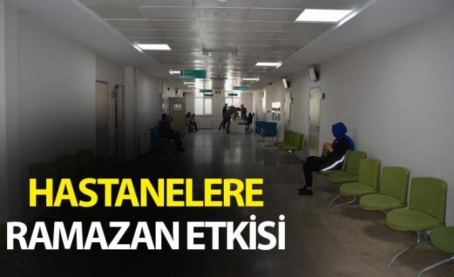 Trabzon'da hastanelere Ramazan Etkisi.