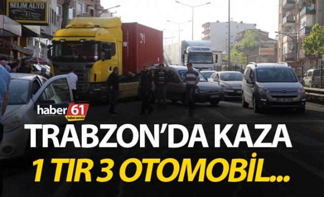 Trabzon'da kaza – 1 tır 3 otomobil…