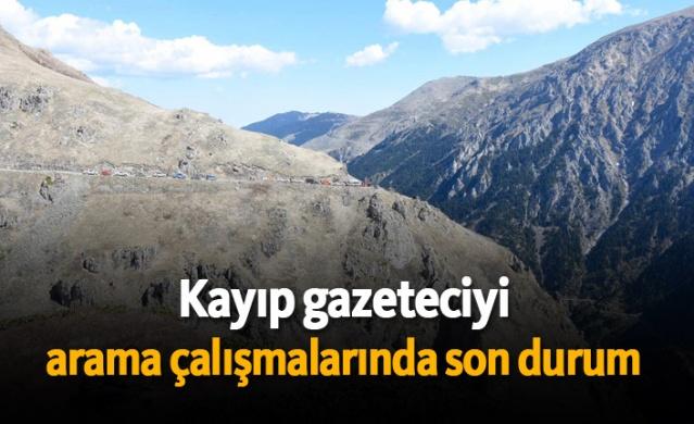 Bayburt-Trabzon arasında bulunan Soğanlı Dağı'ndaki yol açma çalışmalarını takip ederken dün Derebaşı Virajları'nda bastığı kar kütlesinin kopması sonucu uçuruma yuvarlanan AA Bayburt muhabiri Abdulkadir Nişancı'yı arama çalışmaları yeniden başladı.