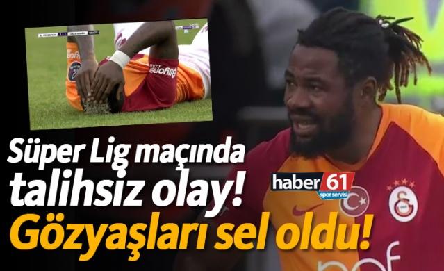 Süper Lig maçında talihsiz olay!