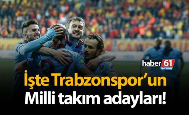 İşte Trabzonspor'un Milli Takım Adayları
