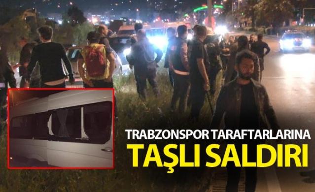 Trabzonspor taraftarlarına taşlı saldırı