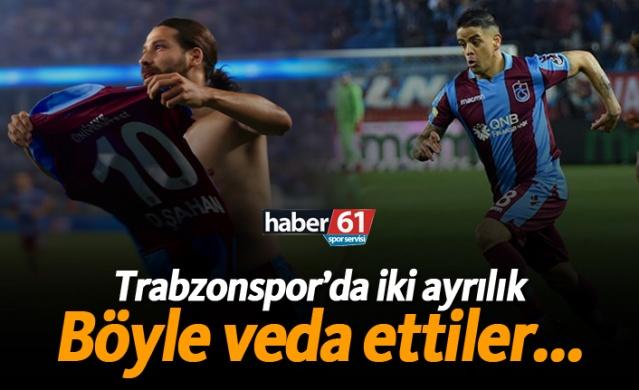 Trabzonspor'da iki ayrılık! Böyle veda ettiler...