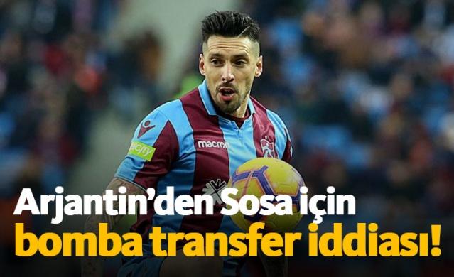 Trabzonspor'da forma giyen ve kulübüyle olan sözleşmesi 2020 yazında sona erecek olan Jose Sosa'yla ilgili olarak ülkesi Arjantin'den gündem yaratan bir transfer iddiası geldi.