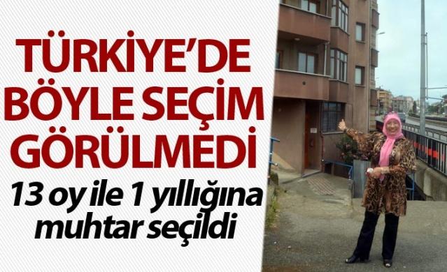 Türkiye'de böyle seçim görülmedi, 13 oy ile 1 yıllığına muhtar seçildi.