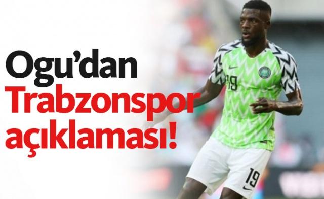 İsrail ekibi Hapoel Beer Sheva'yla sözleşmesi sona eren Nijeryalı orta saha oyuncusu John Ogu'nun adı bir süredir Trabzonspor ile birlikte anılıyordu. 31 yaşındaki yıldız isimden Bordo Mavililer ile ilgili açıklama geldi.