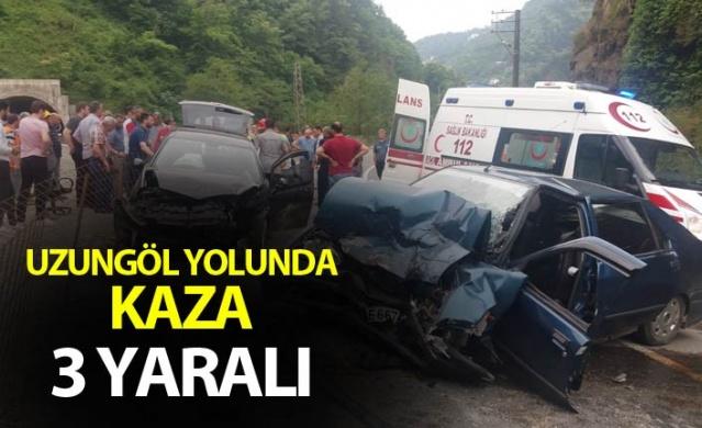 Uzungöl yolunda kaza: 3 yaralı.