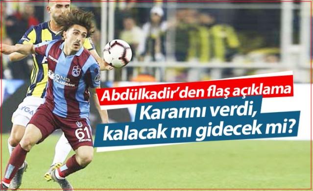 Trabzonspor'da ismi Yusuf Yazıcı ile birlikte transfer için anılan Abdülkadir Ömür son kararını verdi.