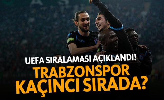UEFA sıralaması açıklandı! Trabzonspor kaçıncı sırada?