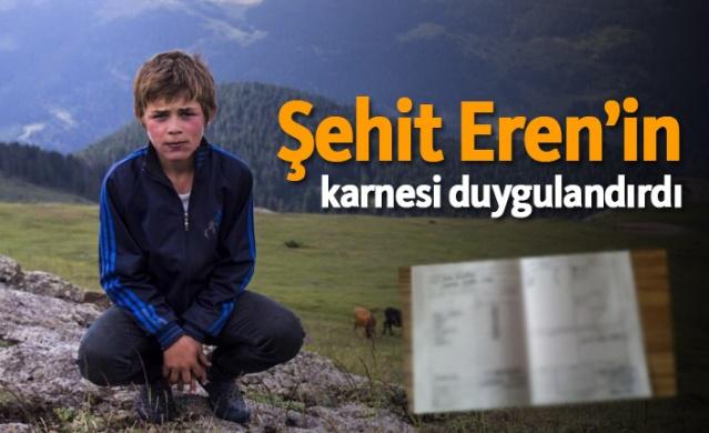 Şehit Eren Bülbül için karne düzenleyip annesine verdiler, o anları paylaştıkları fotoğraflar sosyal medyada büyük ilgi gördü.
