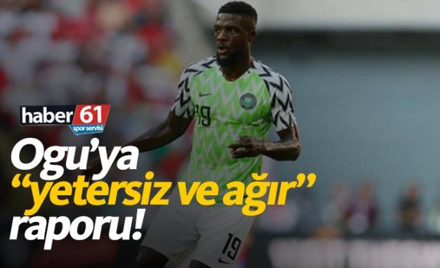 Trabzonspor'da Ogu raporu: Yetersiz, ağır!