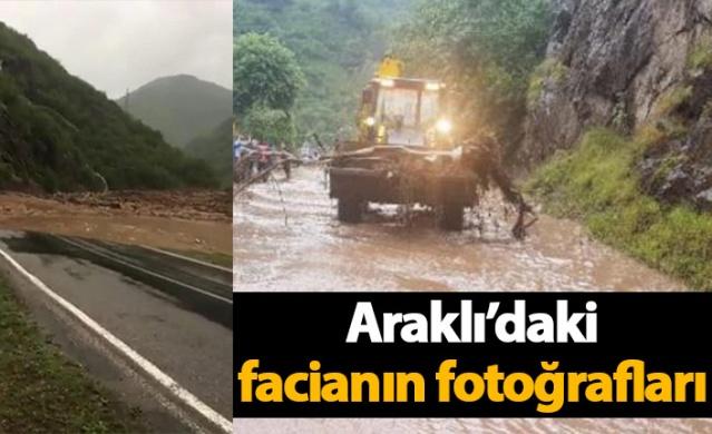 İşte Araklı'daki facianın fotoğrafları