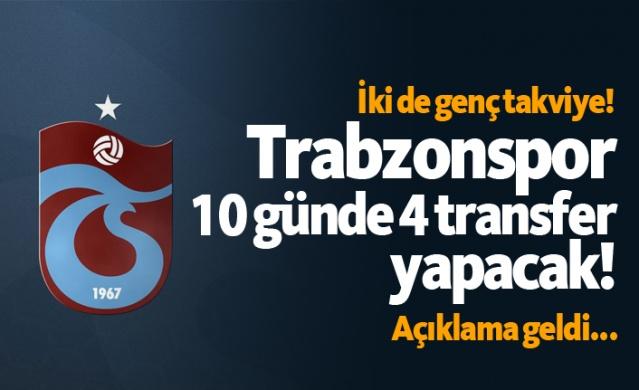 Trabzonspor 10 günde 4 transfer yapacak!