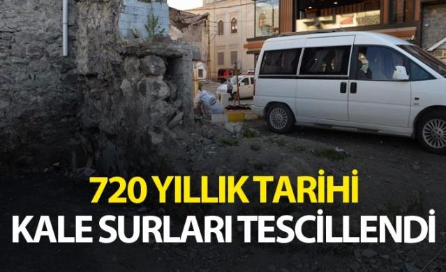 Trabzon'da 720 yıllık tarihi kale surları tescillendi.