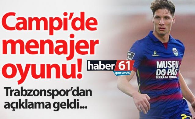 Haber61 Spor Servisi - Tuncay Lakot  Trabzonspor Gaston Campi transferi için bekleyişini sürdürürken resmi açıklama geldi.