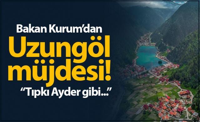 """Çevre ve Şehircilik Bakanı Murat Kurum, tıpkı Rize'nin Ayder Yaylası'nda olduğu gibi Trabzon'un dünyaca ünlü turizm merkezi Uzungöl'de de dönüşümün başlayacağını belirterek """"Sezon bitimine müteakip burada uygulamaya geçmek istiyoruz. Öncelikle olarak kaçak yapıların ve imar barışına dahil olmayan yapıların yıkımını gerçekleştireceğiz"""" dedi."""