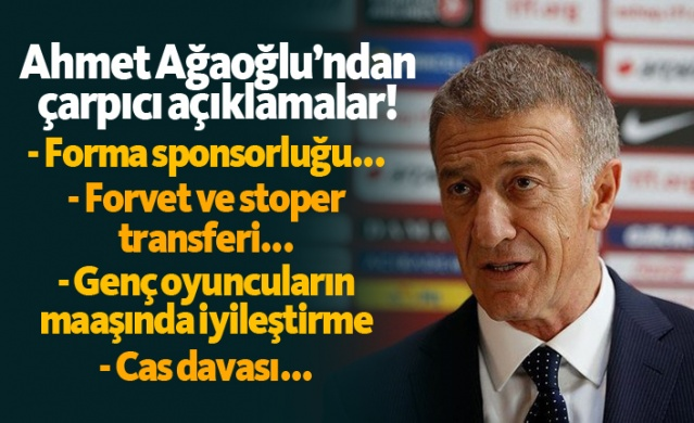 """Ağaoğlu: """"Transferler kampa yetişecek..."""""""