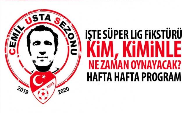 2019-2020 Cemil Usta Sezonu Süper Lig Fikstürü