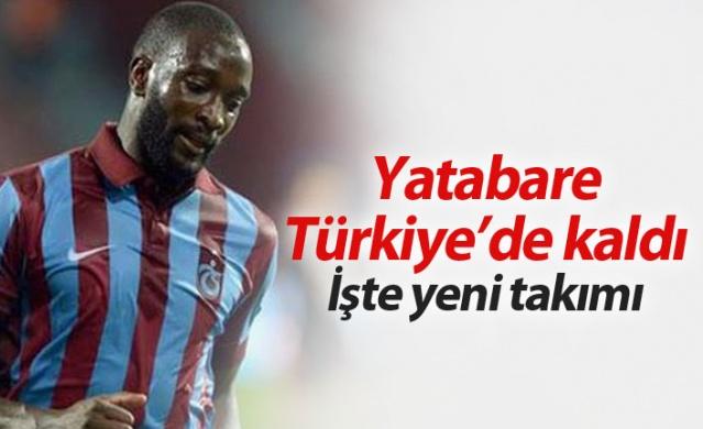 Trabzonspor'un eski futbolcularından Mustapha Yatabare Türkiye'den ayrılmadı.