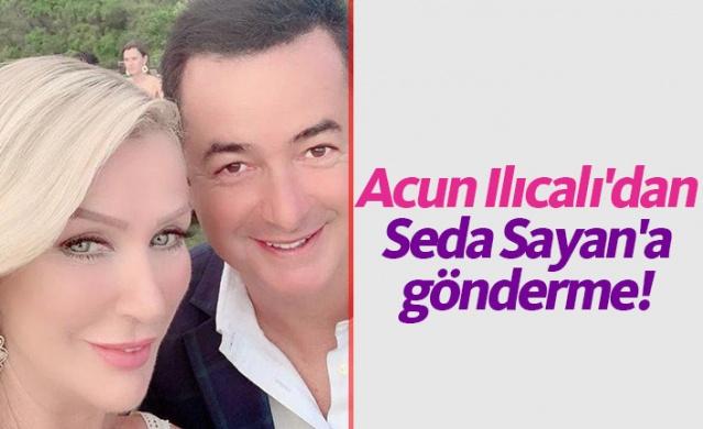 Bu sezon Tv8 ekranlarında Yemekteyiz'i sunacak olan Seda Sayan, önceki gün patronu Acun Ilıcalı ile bir araya geldi. Ilıcalı, geçtiğimiz aylarda kendisini makyaj filtreli paylaşan Sayan'a esprili bir şekilde göndermede bulundu.