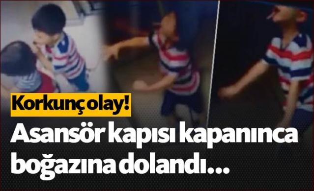 Başakşehir'de oyun oynadığı ipi boynundan çıkarmayan çocuk asansörde dehşeti yaşadı. Bir kısmı dışarıda kalan ip asansör hareket edince çocuğun boğazına dolandı. Küçük çocuğu boğulmaktan asansöre beraber bindiği ablası kurtardı.