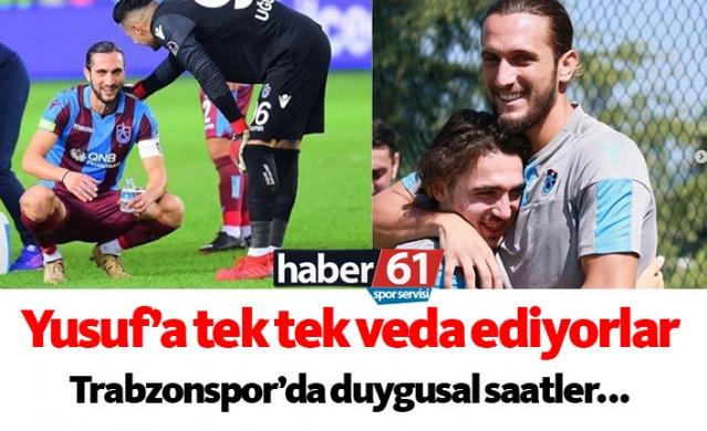 Haber61 Spor Servisi  Trabzonspor'un genç yıldızı Yusuf Yazıcı takımdan ayrılacağını resmen açıkladı. Bu gelişmenin üzerinden takım arkadaşları ona tek tek veda etti. İşte takım arkadaşlarının duygusal vedaları