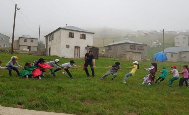 Trabzon'da yaylada spor zamanı.