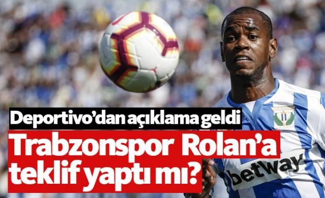 Deportivo Futbol Direktörü Carmelo del Pozo, Trabzonspor'un gündeminde olduğu iddia edilen Diego Rolan'la ilgili bir açıklamada bulundu.