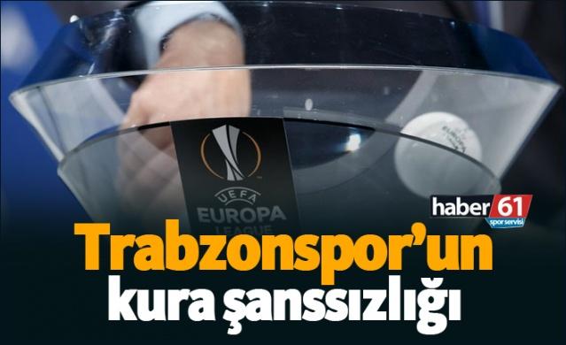 Trabzonspor'un kura şanssızlığı!