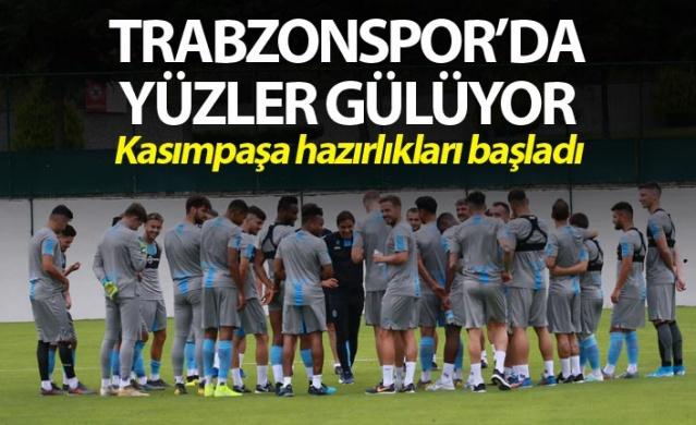 Trabzonspor'da yüzler gülüyor - Kasımpaşa hazırlıkları başladı