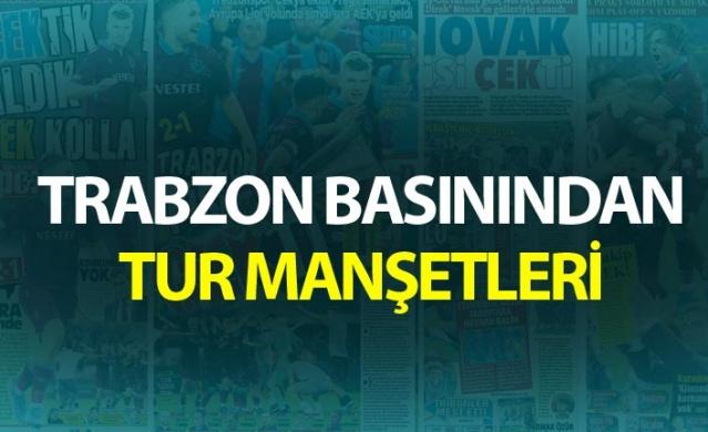 Trabzon basınından tur manşetleri