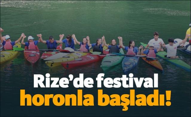 Rize'de festival horonla başladı!